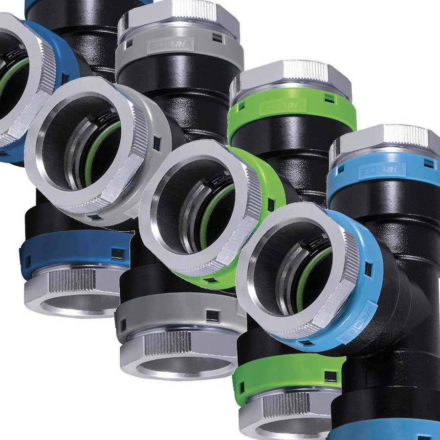 Unipipe fittings for Unipipe compressed air piping system